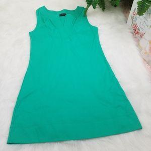 NEW YORK  COMPANY DRESS SLEEVELESS GREEN LINE-A XS